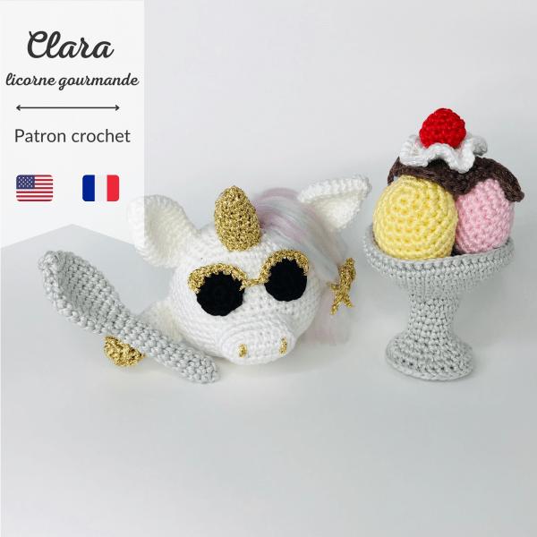 patron crochet clara licorne gourmande