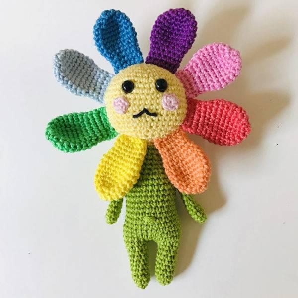 patron amigurumi fleur