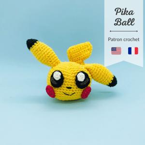 patron crochet pikachu pika ball