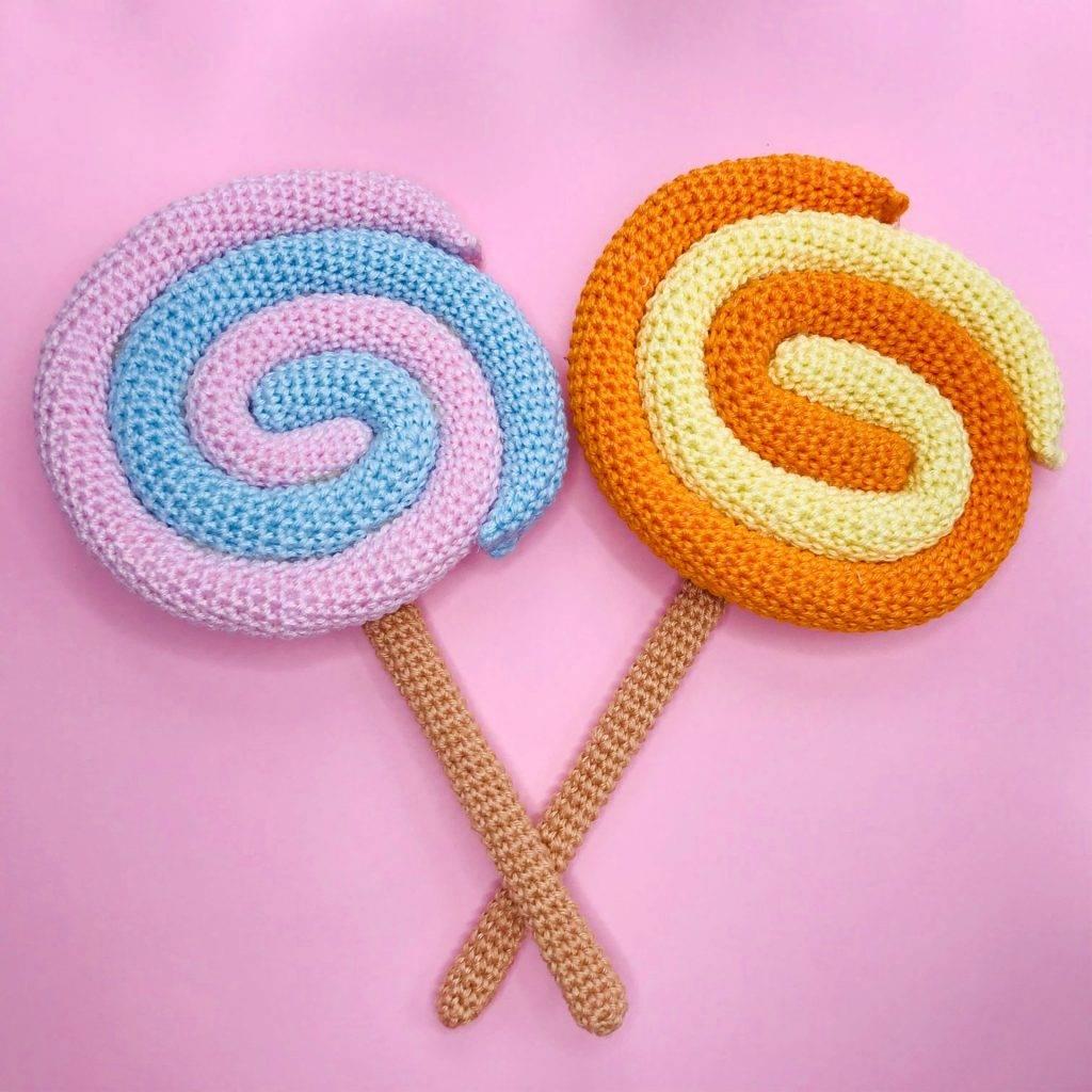 tutorial crochet lollipop