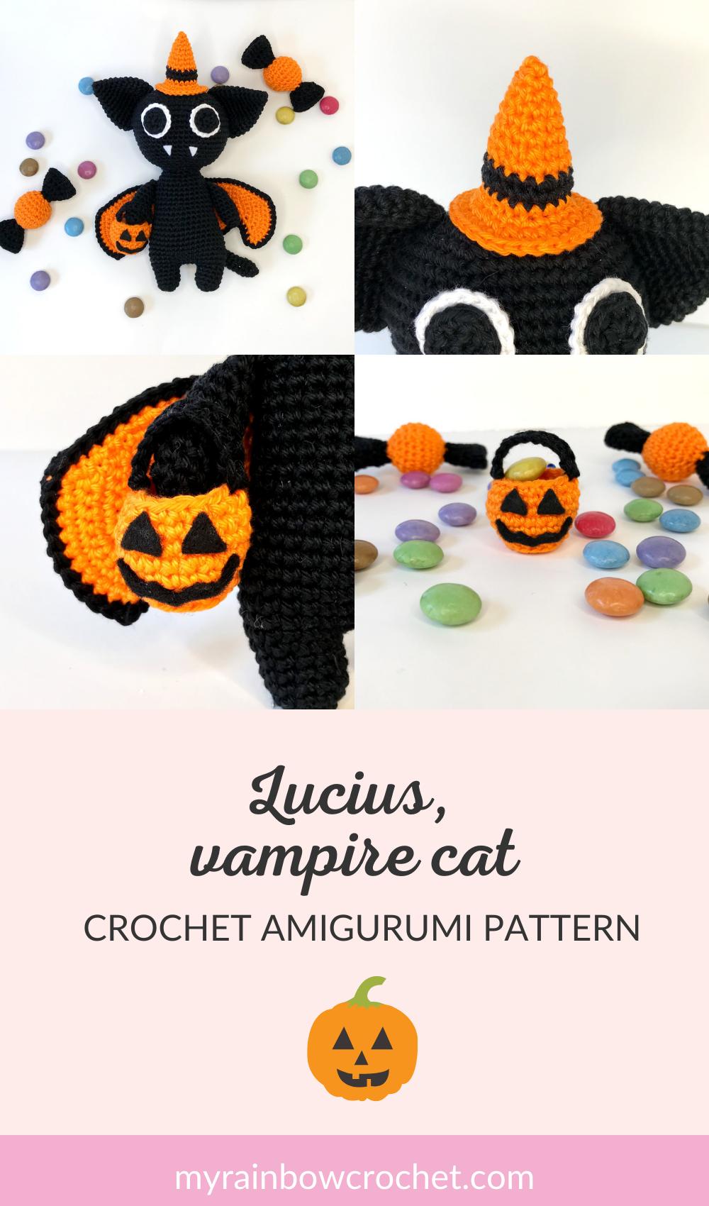 crochet pattern vampire cat
