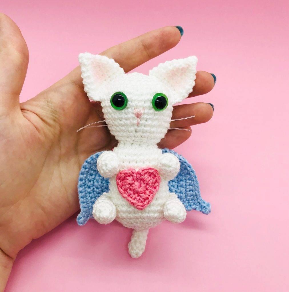 patron crochet chat angélique