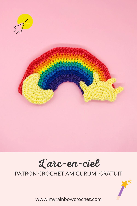 patron crochet amigurumi arc-en-ciel gratuit