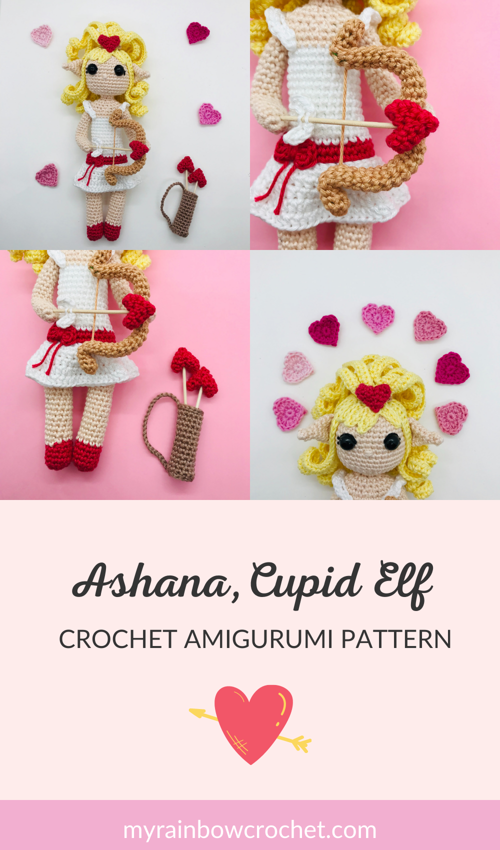 crochet pattern elf cupid