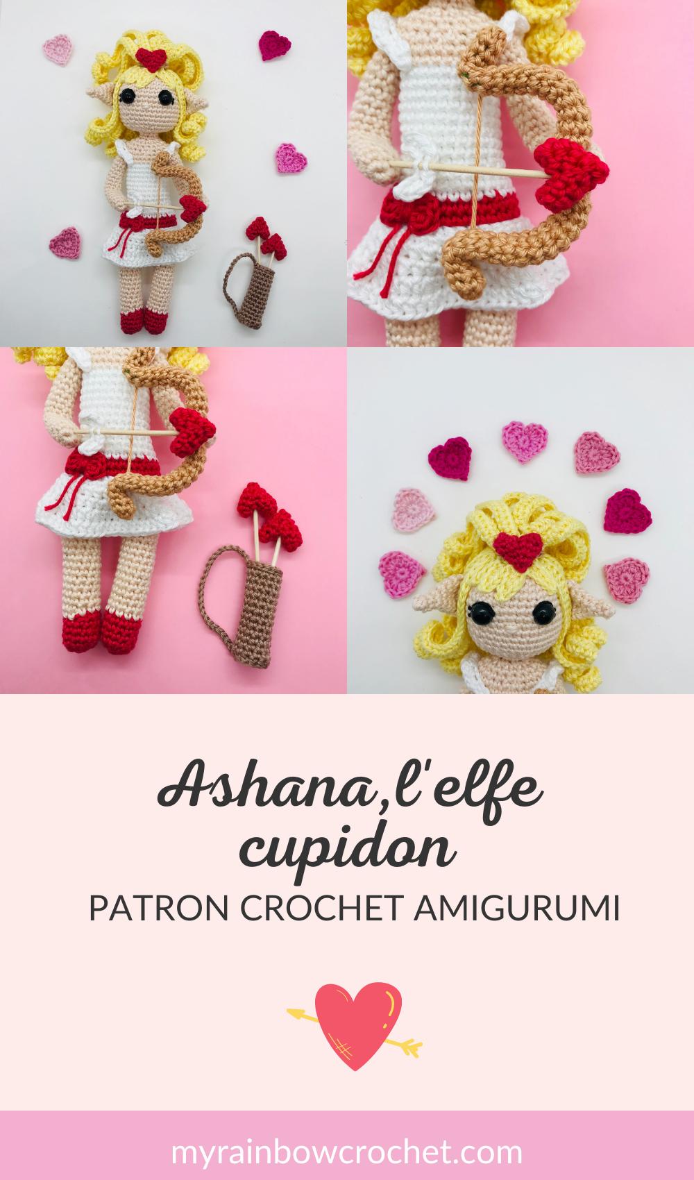 patron crochet elfe cupidon