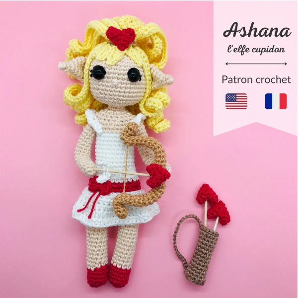 patron crochet ashana elfe cupidon
