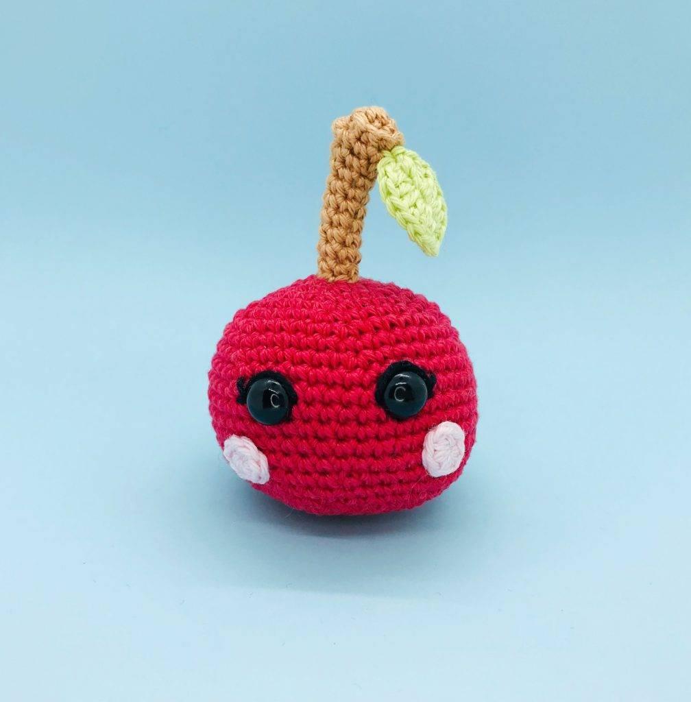 crochet pattern kawaii cherry