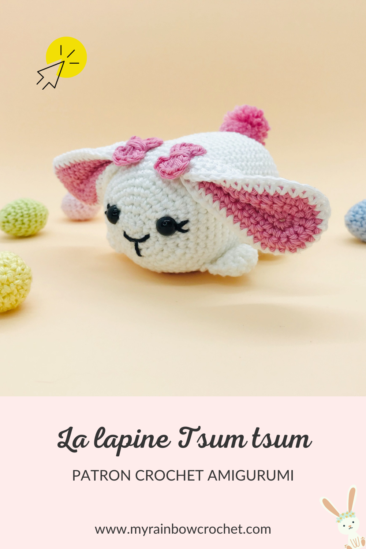 patron crochet amigurumi lapine tsum tsum