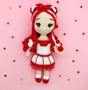 patron crochet poupée chakra racine