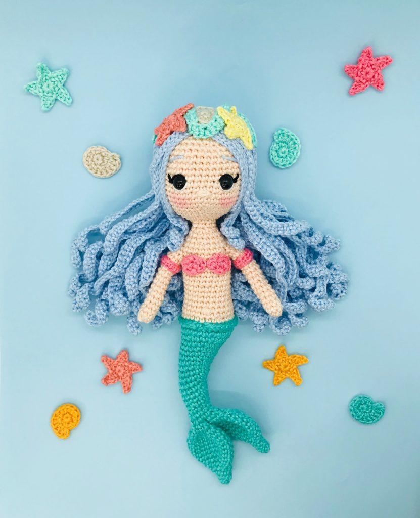 patron crochet marea sirène princesse