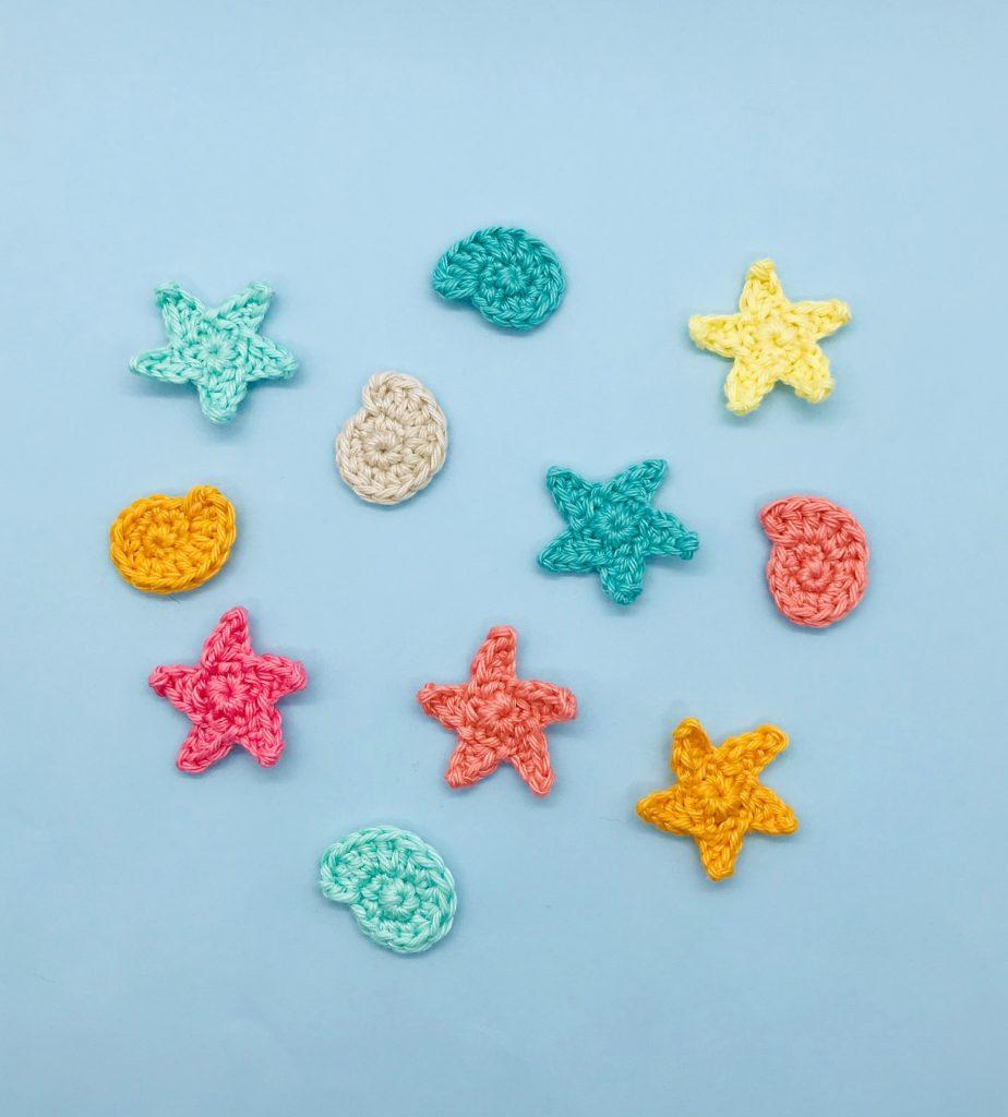 patron crochet étoile de mer coquillage