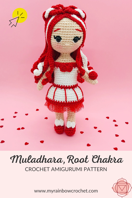 crochet pattern root chakra doll